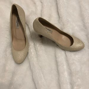 Lk Bennett ivory metallic sparkle pumps 35.5 35